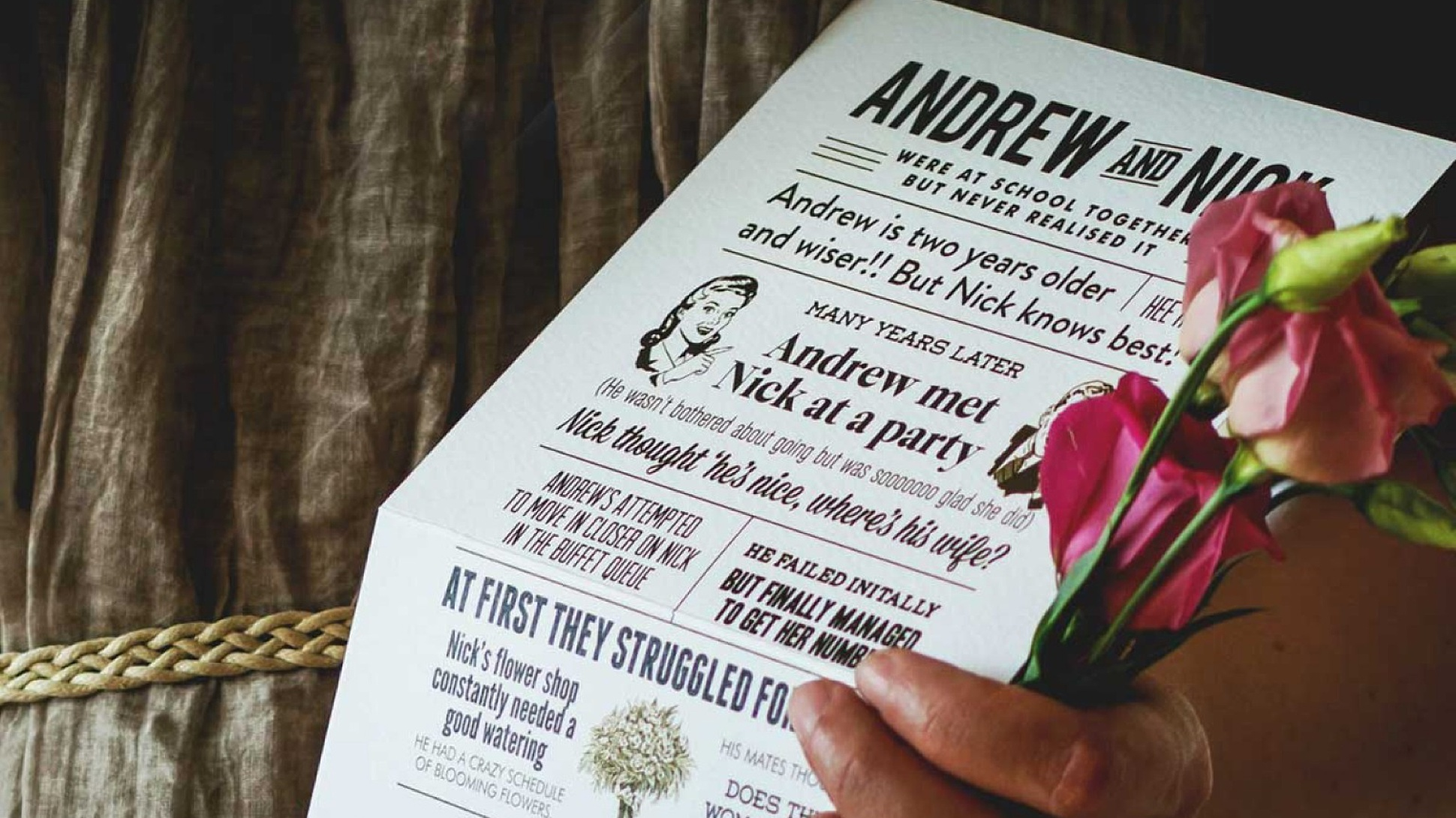 Once Upon- Unique Story Based Wedding Invites
