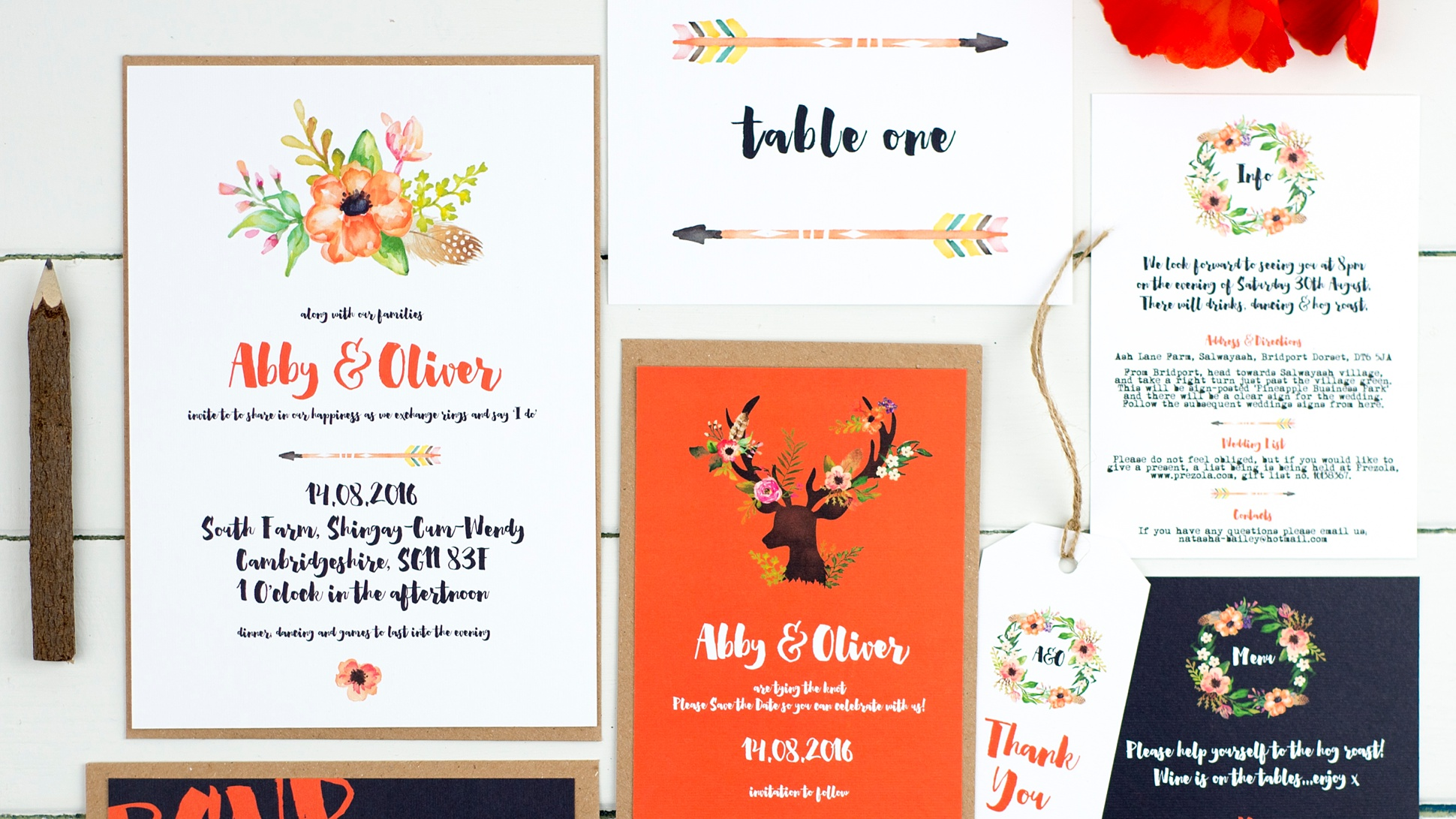 Russet & Gray - Stylish Wedding Stationery & Paper Goods | Mr & Mrs ...