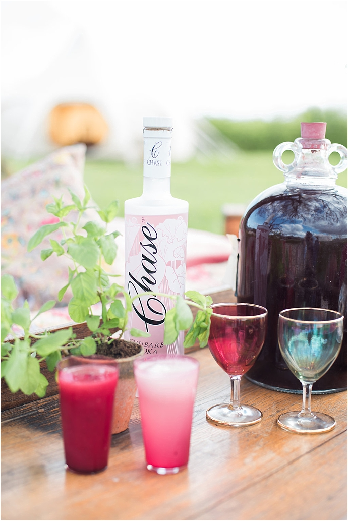 Chase Vodka Summer Cocktails by Wedding Yurts
