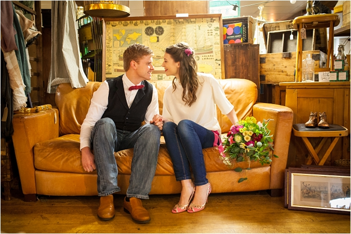 Antiques Market, Vintage Styled Engagement Shoot / Photos by Christy Blanch / Styled by Kate Cullen / As seen on www.mrandmrsunique.co.uk