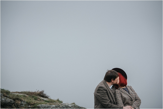 Dramatic, dartmoor, engagement // Photos by Clare Kinchin // Featured on www.mrandmrsunique.co.uk