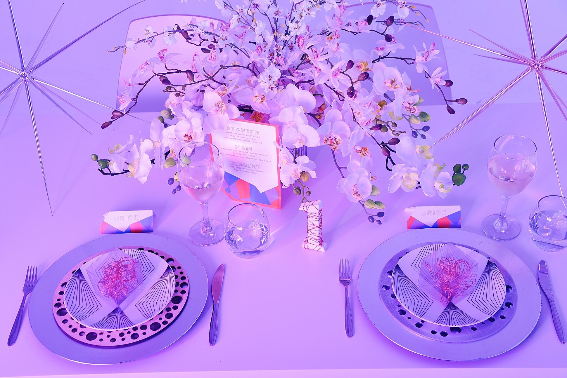 Icetank, futuristic fantasy, same sex brides / Photos by Emma Jane Photography / Styled by Way Out Wedding & Carmela Weddings / As featured on www.mrandmrsunique.co.uk