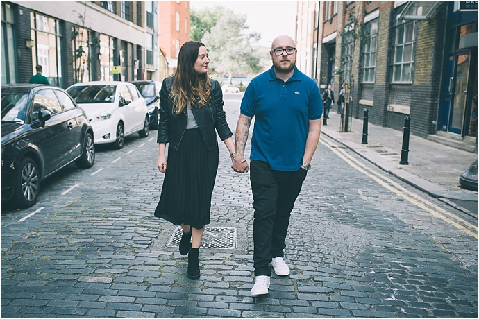 Shoreditch Engagement Shoot / Photos by Remain in Light Photography / as seen on www.mrandmrsunique.co.uk