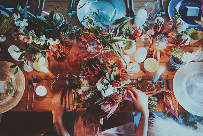 Tropical, Bright, Industrial Wedding Inspiration // Photos by Shutter Go Click Photography