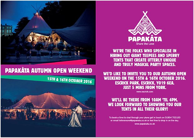 PapaKåta Open Day- Teepee & Sperry Tents- Unusual marquess & tents- Autumn Winter in York