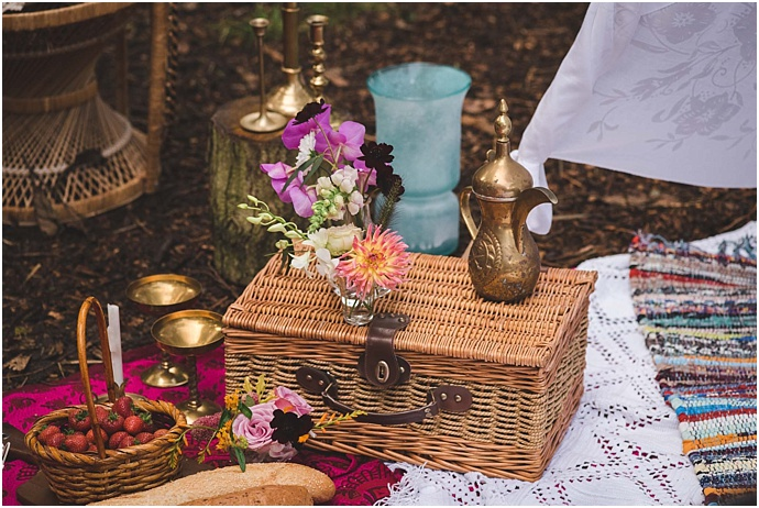 Colourful, woodland, bohemian festival bride with floral crown photographed by Heline Bakker, styled by Bochic Weddings & Events- Featured on Mr & Mrs Unique www.mrandmrsunique.co.uk