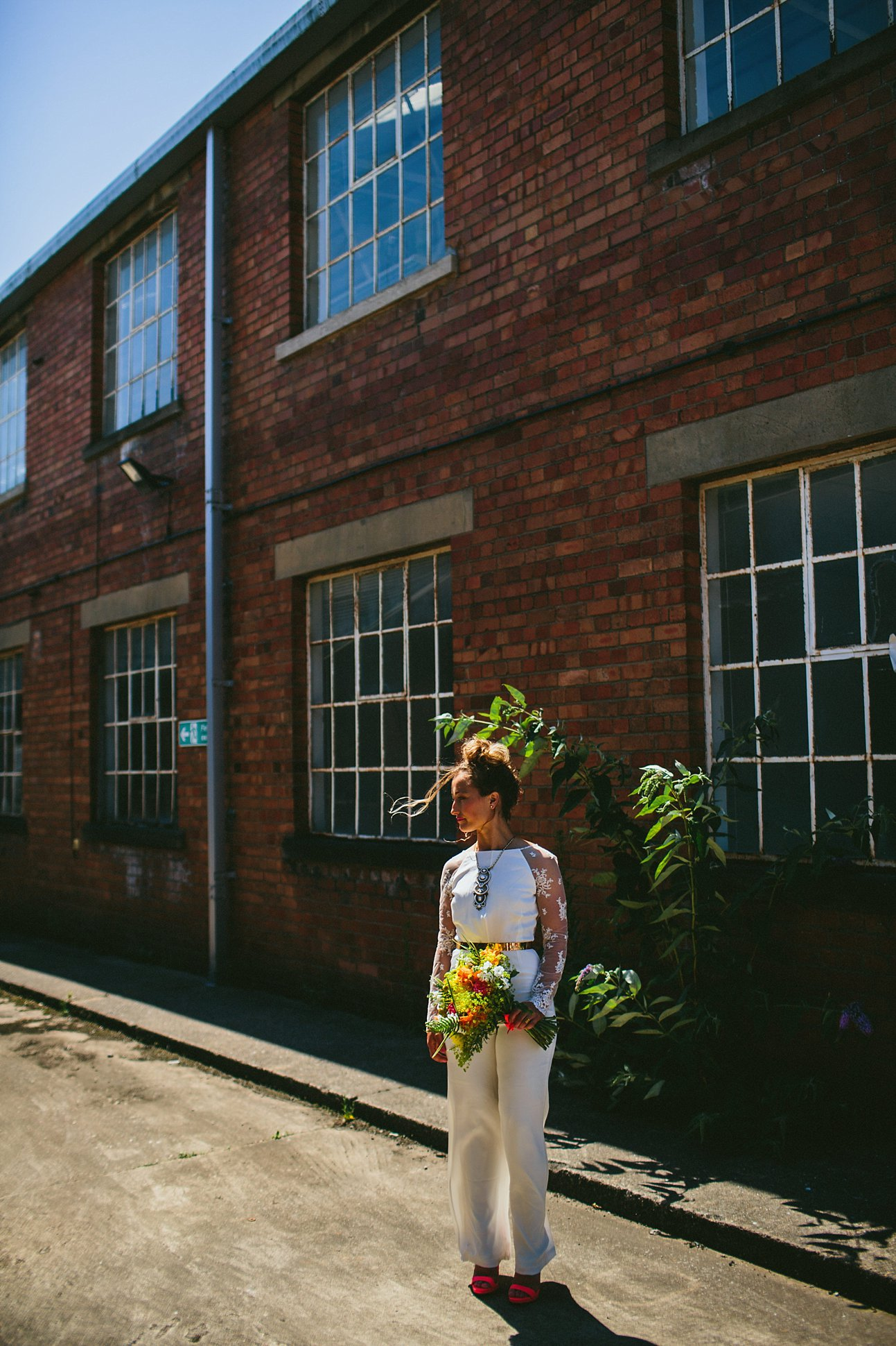 Vibrant. Modern House of Ollichon Bridal Shoot. Photos by Through the Woods We Ran . As featured on Mr & Mrs Unique www.mrandmrsunique.co.uk