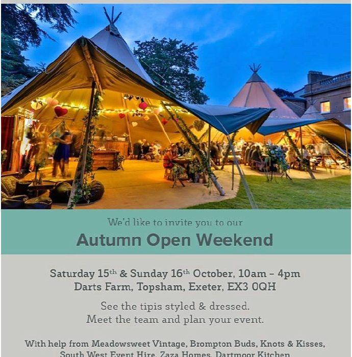 World Inspired Tents- Wedding Tipi Open Weekend- Exeter