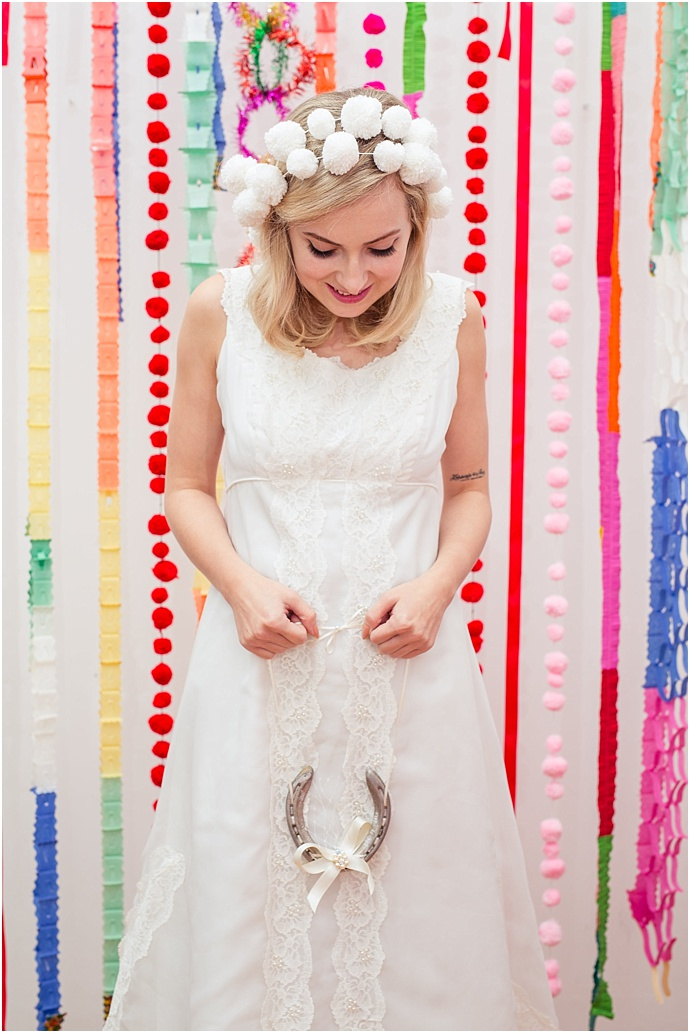 1960's kitsch Vintage Christmas bridal Inspiration by The National Vintage Wedding Fair- Photos by Sharon Cooper