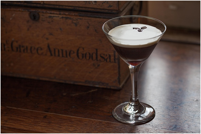 Coffee Espresso & Vodka cocktail from Canvas & Stone as seen on Mr & Mrs unique www.mrandmrsunique.co.uk