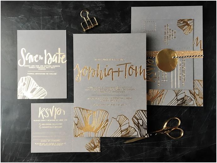 Golden Letter Wedding Stationery- Bespoke , Calligraphy Wedding stationery as sen on Mr & Mrs Unique www.mrandmrsunique.co.uk