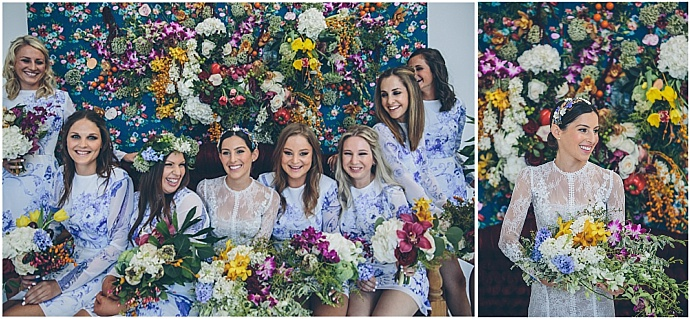 A colourful, stylish, flower filled, jewish wedding. Photography by Shanna Jones Photography