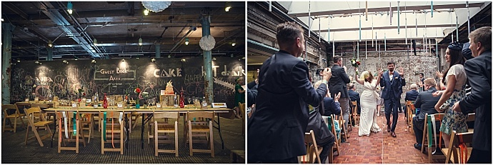 Colourful urban warehouse wedding in London. Photography by Assassynation as seen on Mr & Mrs Unique www.mrandmrsunique.co.uk