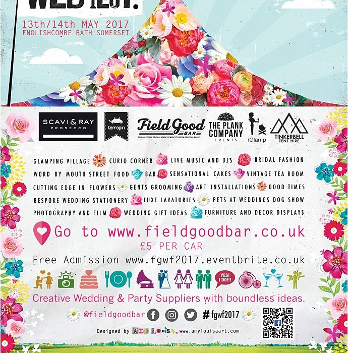 Wedfest Bath Wedding Fair for festival brides and outdoor weddings as seen on Mr & Mrs unique