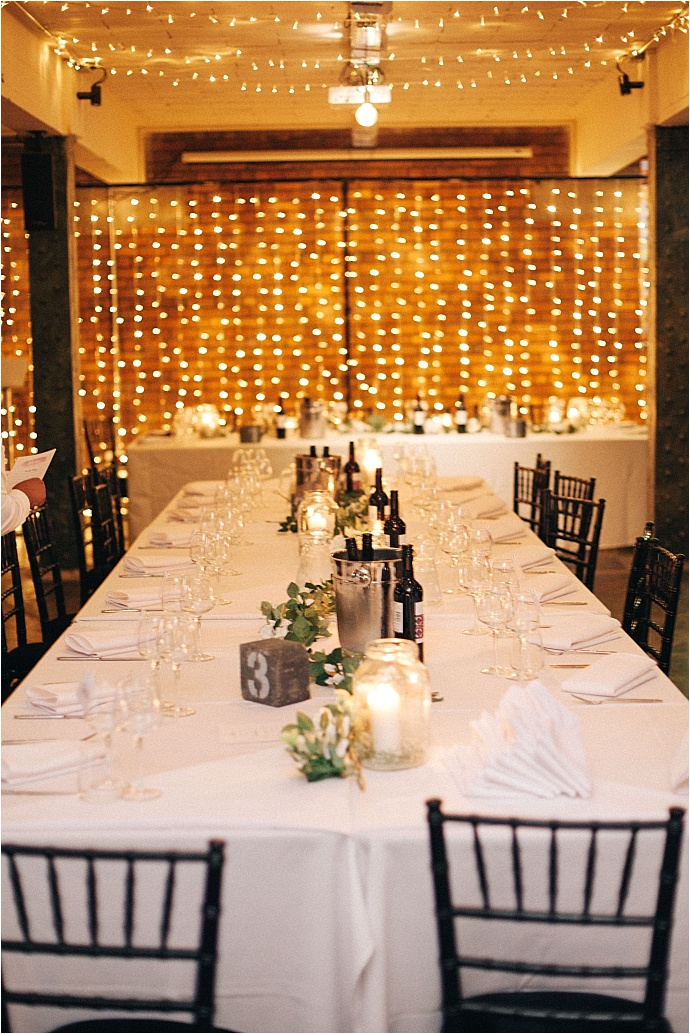 Romantic industrial warehouse wedding at Victoria Warehouse, Manchester. Photos by Leah Henson