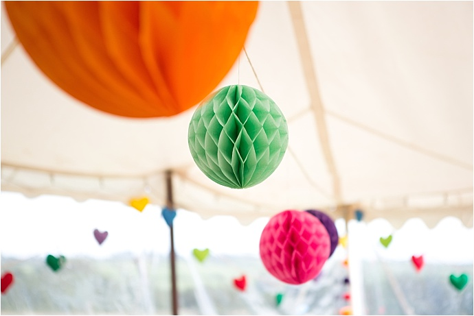 Super colourful, eco-friendly wedding at Ash Farm Rescue Centre nr Dartmouth, Devon. Photos by Emma Stoner Photography.