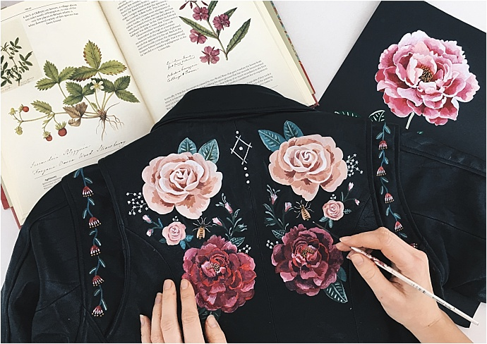 Wolf & Rosie - Original and bespoke hand painted designs on leather for all you cool brides and grooms to be. Botanical inspired designs with a touch of the bohemian.