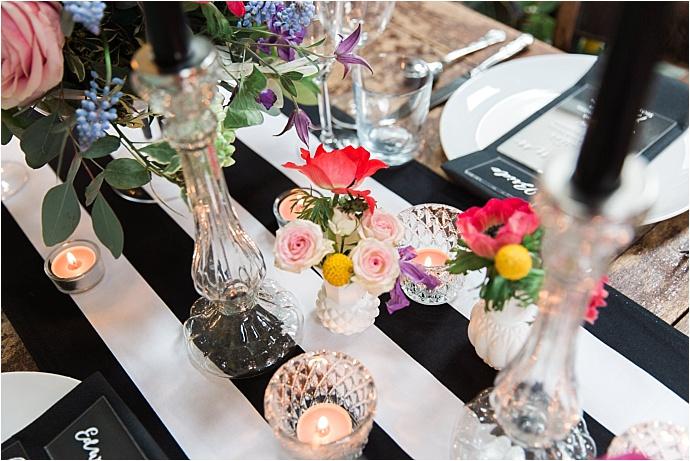 Trendy, fun, contemporary colour pop wedding inspiration shoot. Photos by Siobhan Amy Photography