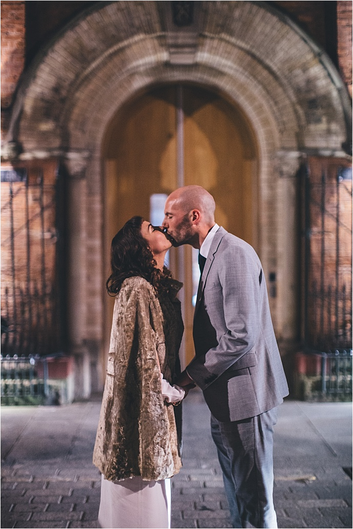 A middle-eastern inspired wedding with disco vibes, glitter and Iranian food. Photos by Mike Plunkett Photography