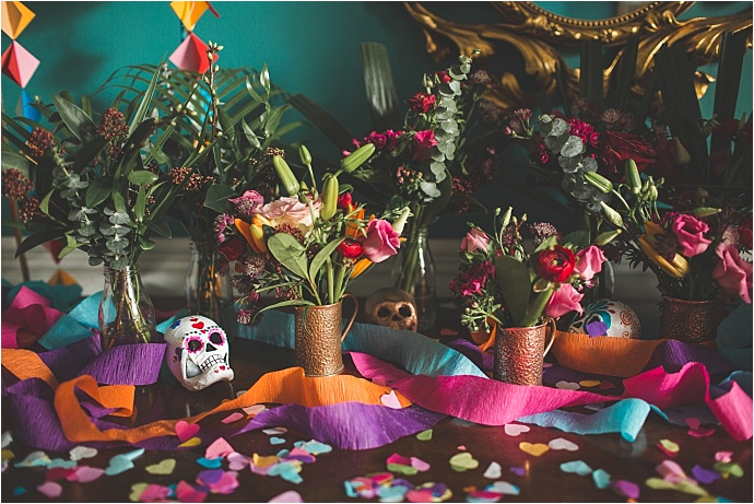 Colourful, Mexican Wedding Inspiration with Day of the Dead Decor...