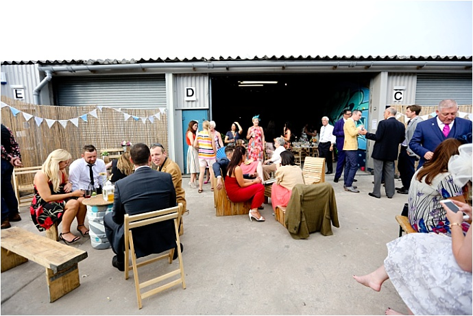 Colourful, Fun Graffiti Warehouse wedding at The Boiler House, Cardiff. Photos by Maria Farrelly
