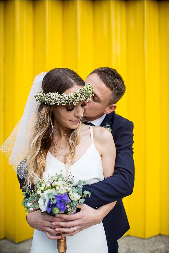 alternative bride, Binky Nixon Photography, bohemian bride, boho bride, city wedding, city wedding ideas, cool bride, cool london wedding, family wedding, fox mask, Foxes, kids at weddings, Kings Cross wedding, london wedding dress, real wedding, stylish wedding dress, wedding