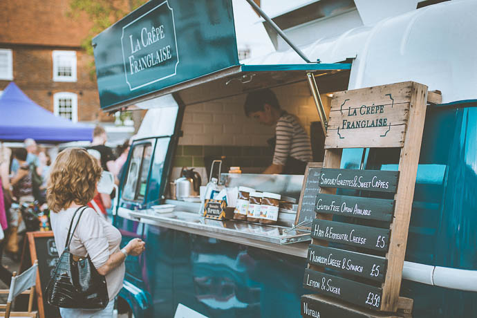 La Crepe Franglaise Street Food Wedding Catering as seen on Mr & Mrs Unique
