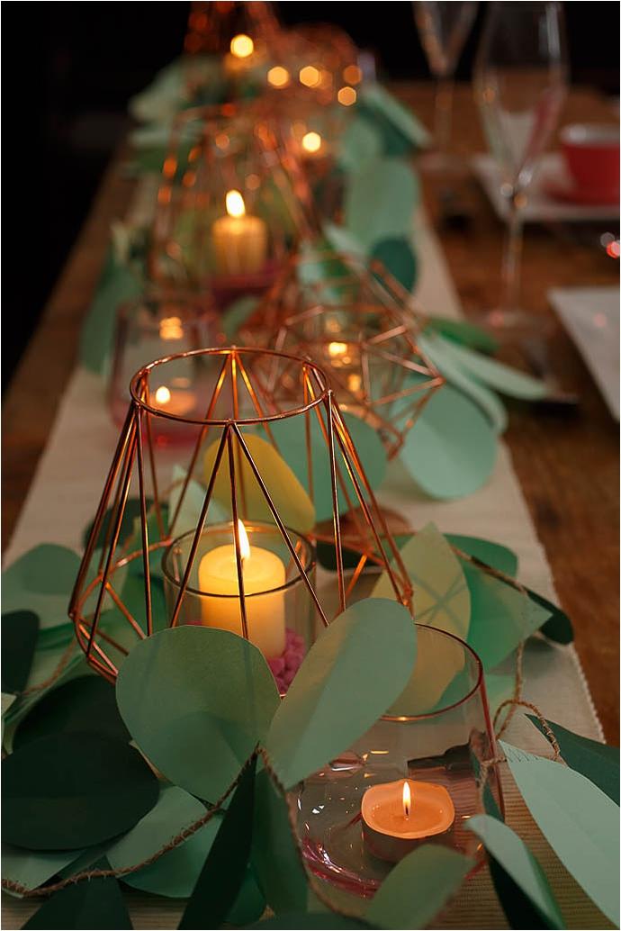 Craft project, DIY, fleur de Lace, Mr & Mrs Unique, paper leaf garland, Paper leaves, party props, sewing project, wedding decor, wedding decoration, wedding DIY, wedding ideas