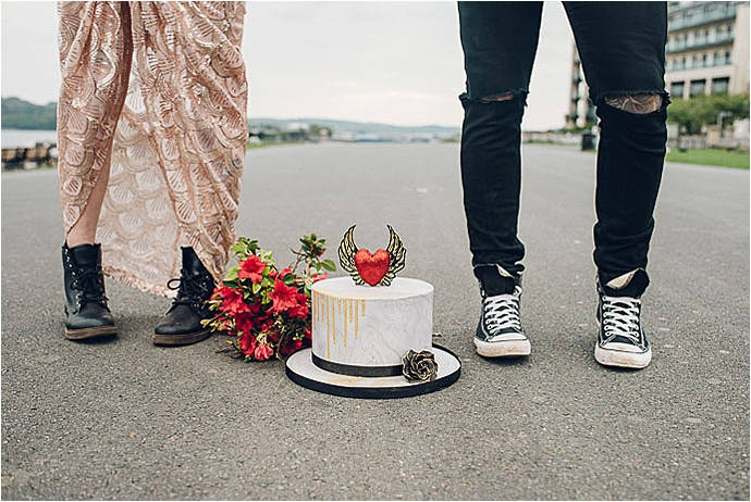 alt bride, alternative bride wedding photographer, alternative wedding photography, bridal fashion, cool bride, copper wedding, edgy bridal style, edgy couples shoot, engagement shoot, Margo R Photography, mr and mrs unique, red wedding, rock n roll bride, seaside wedding, sequin wedding dresss, sexy bridal shoot, skateboard wedding, skateboarding, skater wedding, stylish wedding dress, tattooed bride, tattooed groom, Unique wedding inspiration