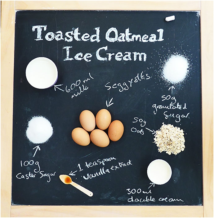 Oatmeal,dessert recipe,ice cream,ice cream recipe,icecream sandwich,nevie-pie cakes,oatmeal ice cream,recipe,summer puddings,sweet treats,toasted oatmeal,toasted oatmeal ice cream recipe,