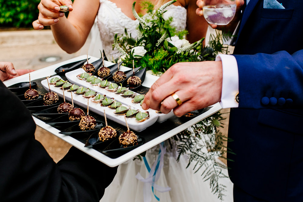 Canapes,Colourful wedding,Spanish wedding,abroad weddings,colour pop,colourful flags,confetti,creative wedding photography,destination wedding,epic love story,tropical wedding,vibrant wedding,wedding cheese cake,