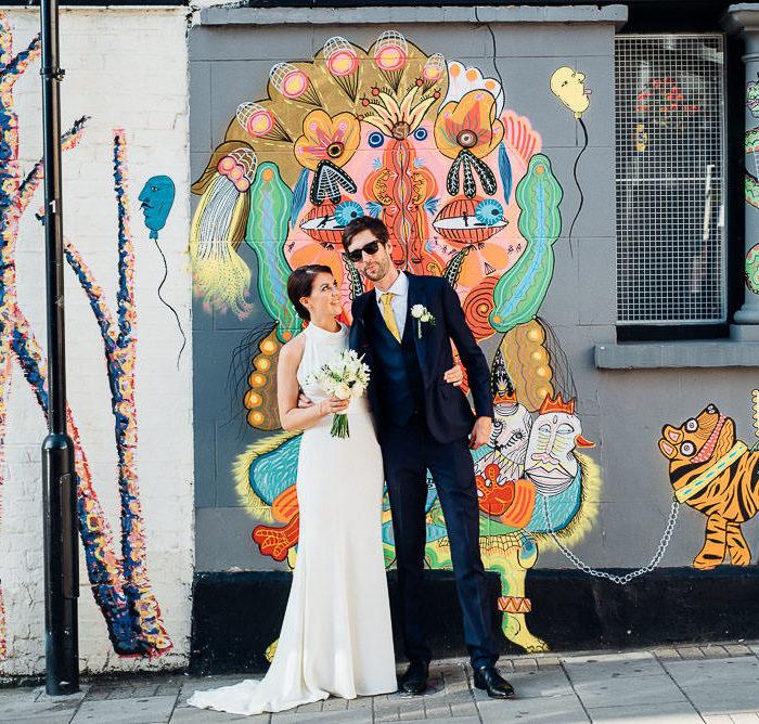 boat ride, camden wedding, chic london wedding, chic wedding, city wedding, cocktails, cool bride, cool groom, gold bridesmaid dresses, london bride, london couple, london wedding dress, marriage in London, shoreditch wedding, urban wedding, Wedding DJ