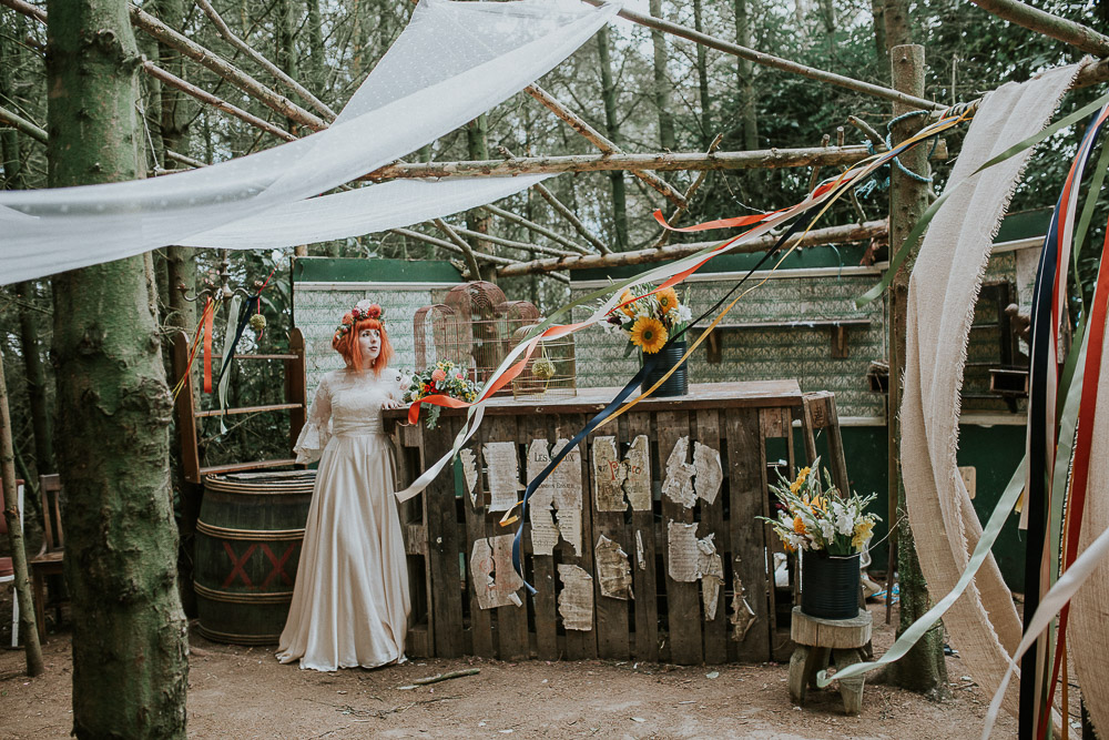 rustic bar, alternative wedding dress, Colourful wedding, cool bride, cool groom, DIY wedding, eco friendly wedding, festival vibe, festival wedding, floral crown, fun wedding, ginger bride, gluten free catering, Handmade wedding, joasis photography, mulberry lodge, mulberry lodge weddings, outdoor wedding, pom poms, quirky bride, red hair bride, relaxed wedding, rustic wedding, Smugglers, vegan catering, vintage wedding dress, wedding games, woodland wedding