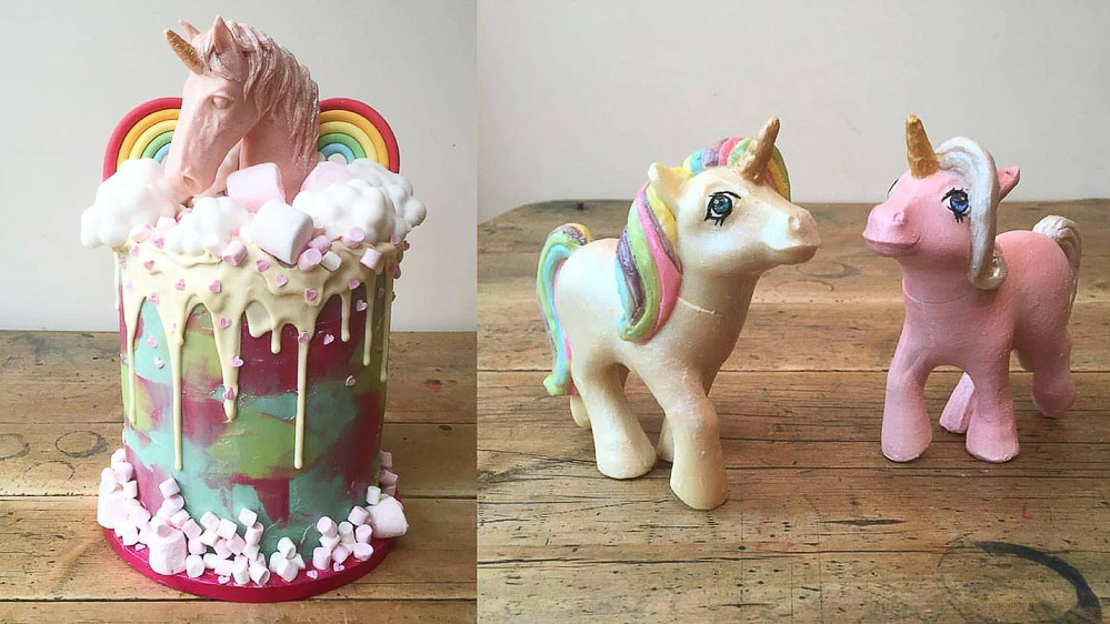 Unicorn cake, Tattooed bakers, London based Cake & Food Creatives