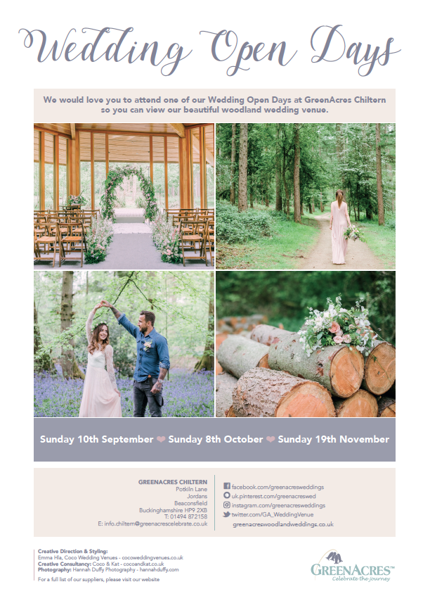 Greenacres Open Days Woodland Weddings In Magical Grounds