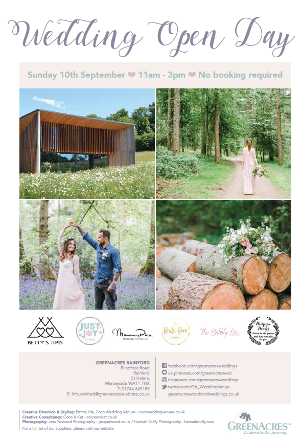 Greenacres Woodland Weddings Open Days Mr Mrs Unique