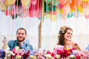 Lizzie and Joe's gorgeous handmade festival wedding in Wales