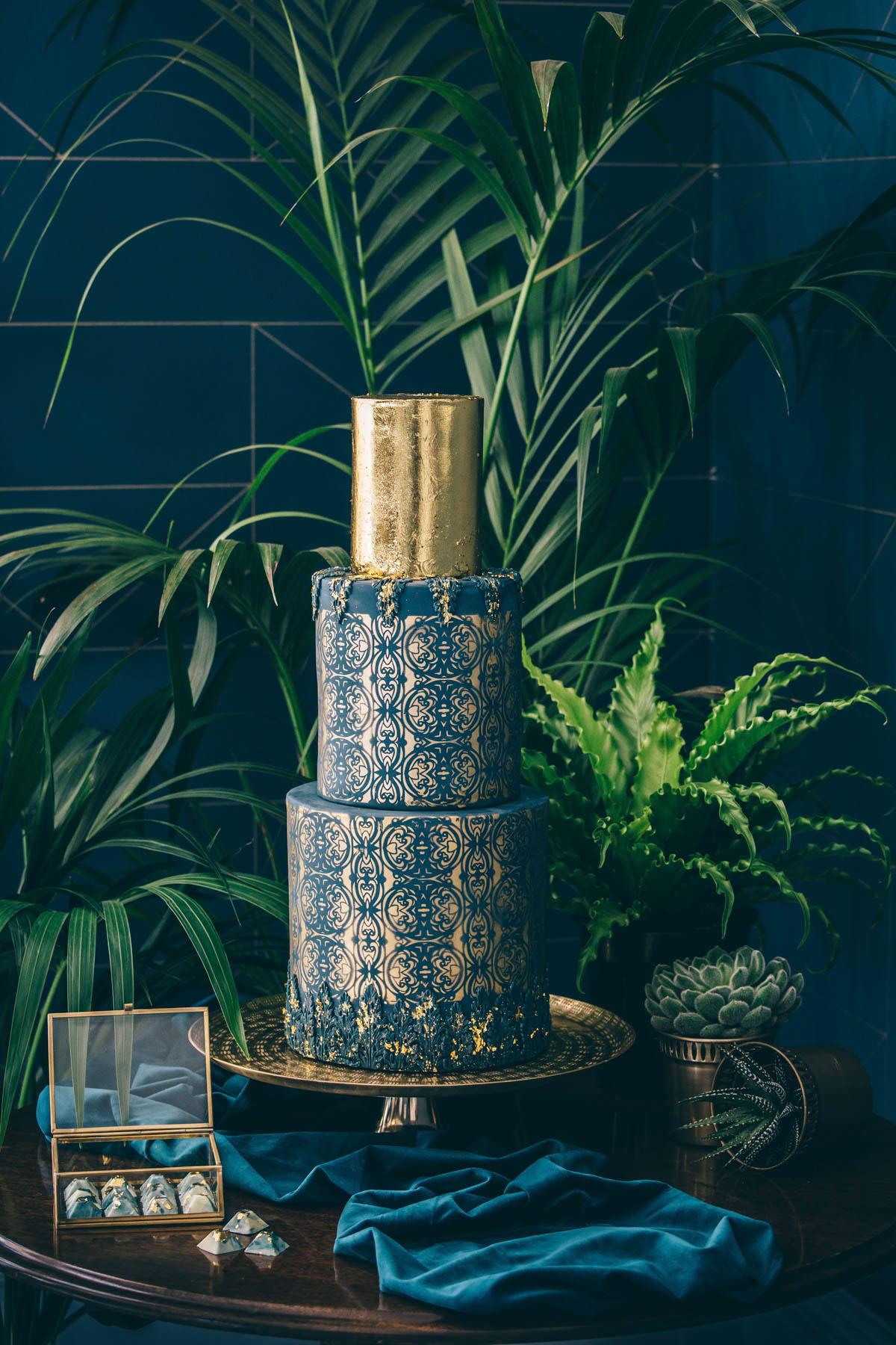 70's style, 2017, art deco, bold, bouquet, Bow, brass, bridal jumpsuit, bride, Brigitte Fisher, bronze, candles, Credition, deco, Devon Wedding Photographer, dress, Edible Essence Couture Cake Co, Emmy Shoes, ferns, foliage, Genevieve Satha Make-up, glamour, graphic, Inspire Hire, jumpsuit, jungle luxe, Knots & Kisses, Kye Tew Jewellery, leopard print, Maxi Photography, model, modern, name setting, Paschoe House, Paschoe House wedding photographer, peacock chair, place setting, Rock The Frock, Sarah-Jane Mackfall, stationery, styled shoot, styling, succulents, table plan, teal, uber-glam, virginias vintage hire, wedding dress, wedding jumpsuit, Winsor Flower Studio