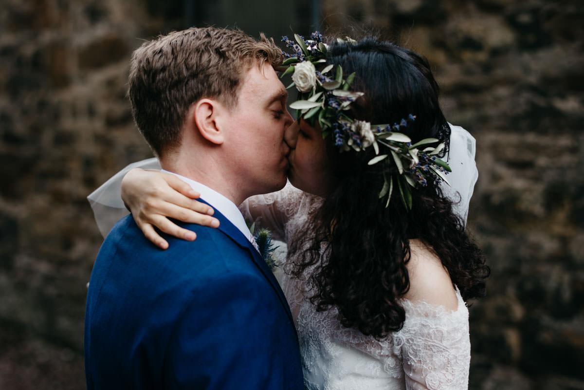 airbnb, Chinese Bride, cozy wedding, destination wedding, elaine williams photography, floral crown, Glasgow wedding, Grovesnor cinema, Initimate wedding, multicultural wedding, scottish wedding, small wedding, stylish bride, The Bothy