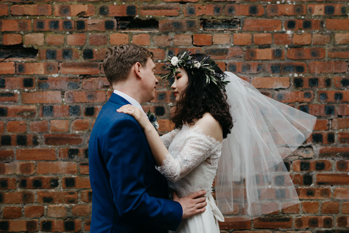 airbnb, Chinese Bride, cozy wedding, destination wedding, elaine williams photography, floral crown, Glasgow wedding, Grovesnor cinema, Initimate wedding, multicultural wedding, scottish wedding, small wedding, stylish bride, The Bothy