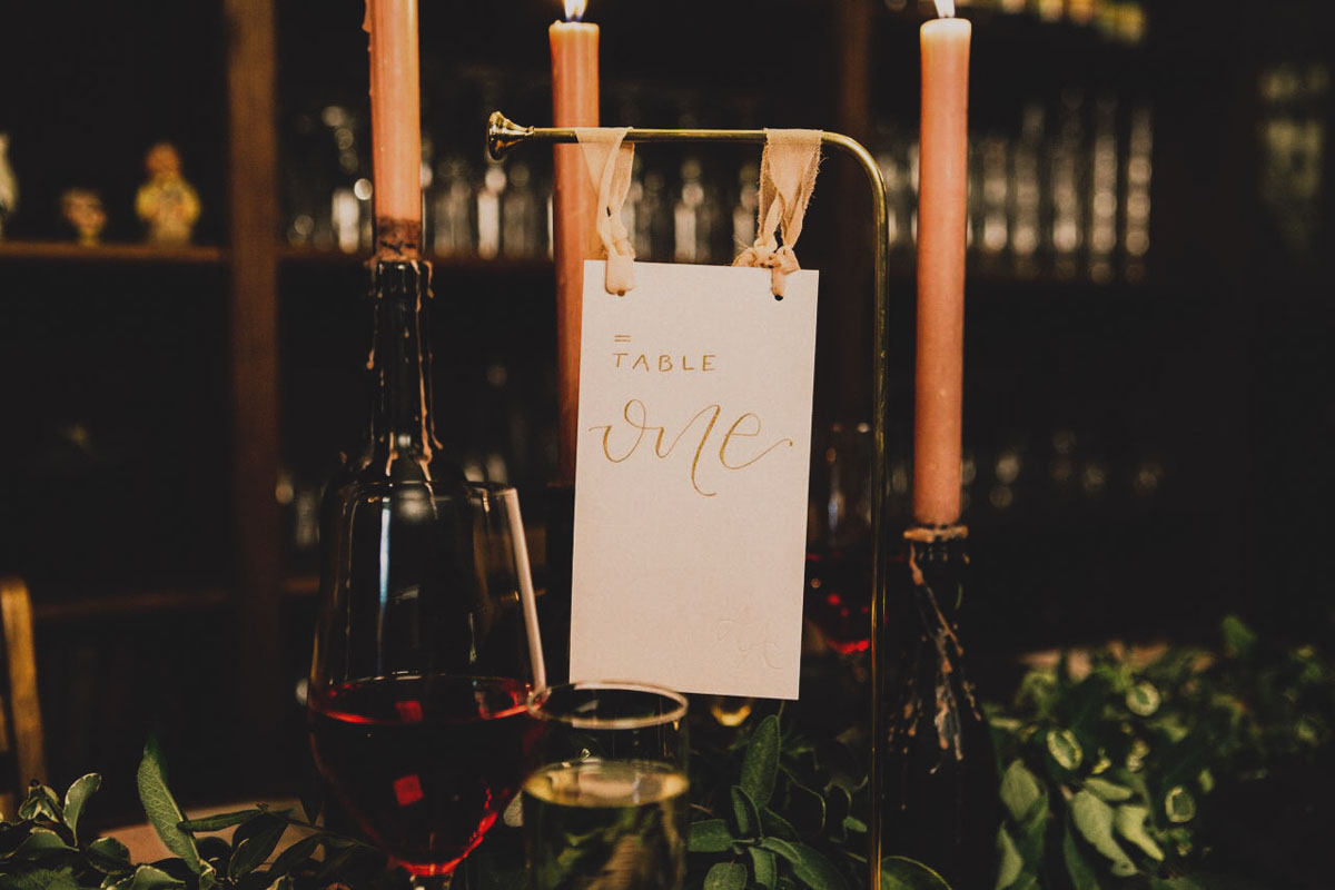 wedding stationery table number