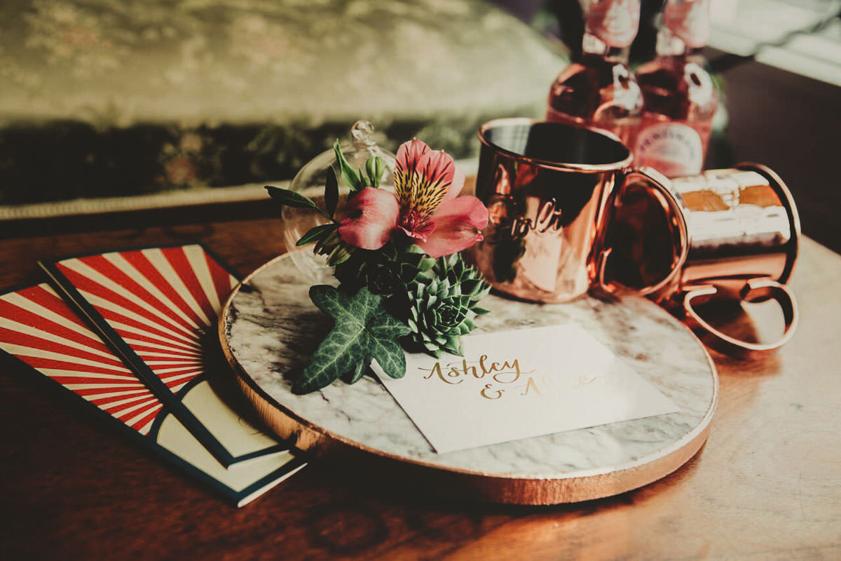 Dark bohemian wedding tablescape