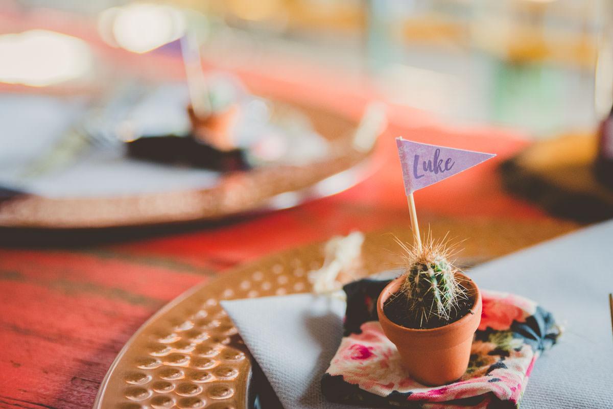 cacti wedding favours