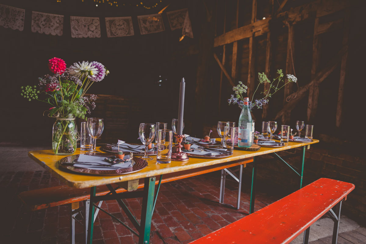 creative festival inspired table decor