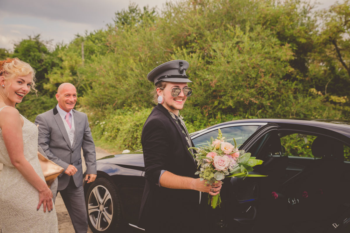 cool wedding taxi driver