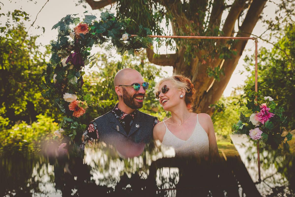 creative, edgy wedding portrait photography