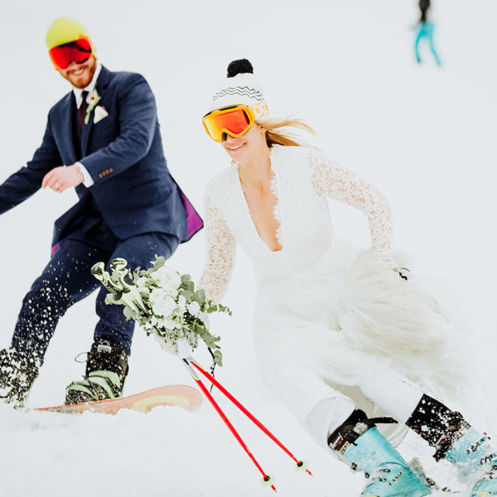 ski resort wedding, Austrain Mountains, Austria wedding, destination wedding, ski biarding bride, ski resort wedding, ski wedding, snow wedding, snowboarding wedding, velvet bridesmaid dresses, wedding reveal, white wedding, wild connections photography, winter wedding