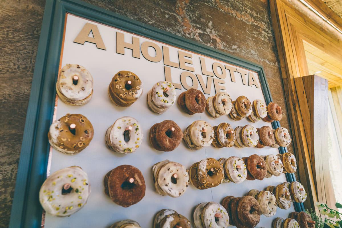 Doughnut wall at Elmore court