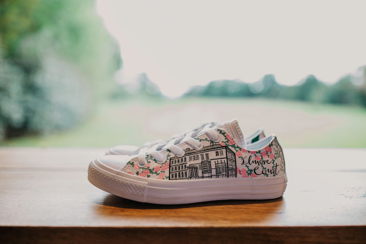 Bespoke hand painted trainers at Elmore Court