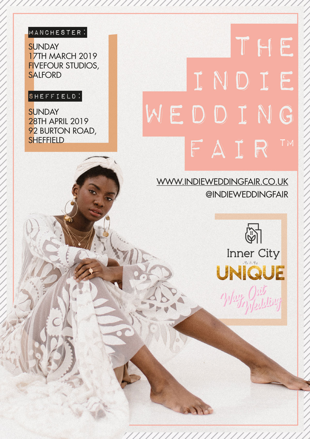Agnes Black, bridal style, Indie Wedding Fair, innercity weddings, Leeds Wedding fair, Manchester wedding fair, modern bride, open days, Sheffield wedding fair, wedding inspiration, wedding planning, wedding suppliers